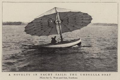 A Novelty in Yacht Sails, the Umbrella Boat--Giclee Print