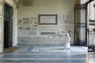 A Nun Enters the Basilica Di Santa Maria in Trastevere, One of the Oldest Churches in Rome-Dave Yoder-Photographic Print