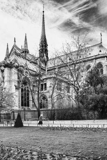 A nun - Notre Dame Cathedral - Paris - France-Philippe Hugonnard-Photographic Print