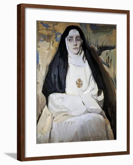 A Nun-Joaquín Sorolla y Bastida-Framed Art Print