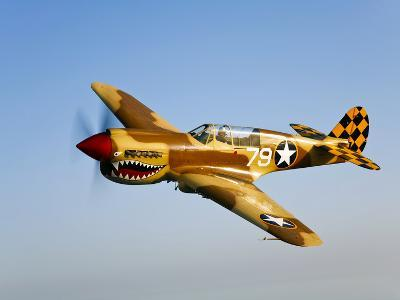 A P-40N Warhawk in Flight-Stocktrek Images-Photographic Print