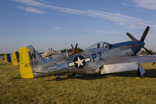 A P-51 Mustang Parked at Eaa Airventure, Oshkosh, Wisconsin-Stocktrek Images-Photographic Print