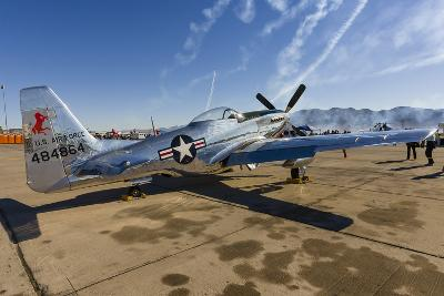 A P-51 Mustang Parked on the Ramp at Nellis Air Force Base, Nevada-Stocktrek Images-Photographic Print