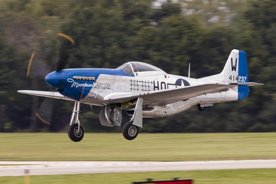 A P-51 Mustang Takes Off from Waukegan, Illinois-Stocktrek Images-Photographic Print