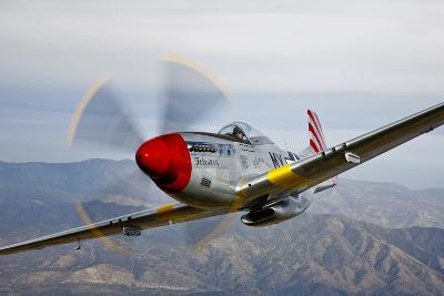 A P-51D Mustang in Flight Near Prescott, Arizona--Photographic Print