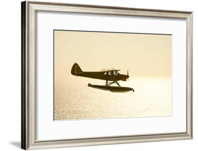 A PA18 Super Cub Floatplane Flying to Conception Island-Jad Davenport-Framed Photographic Print