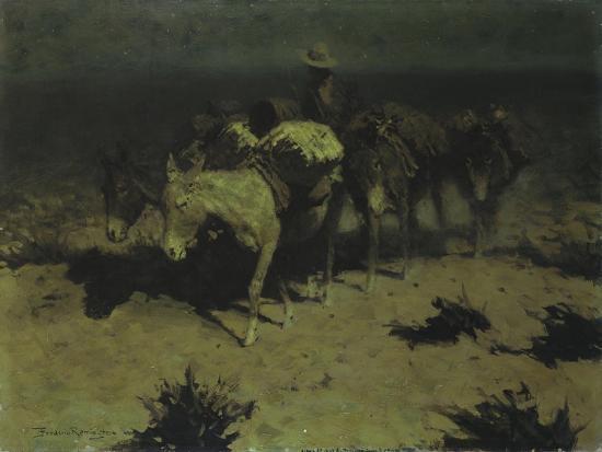 A Pack Train, 1909-Frederic Sackrider Remington-Giclee Print