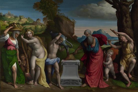 A Pagan Sacrifice, 1526-Benvenuto Tisi Da Garofalo-Giclee Print
