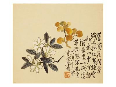 A Page (Flowers) from Flowers and Bird, Vegetables and Fruits-Li Shan-Giclee Print