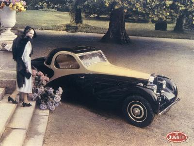 A Page from a 1935 Bugatti Brochure--Photographic Print