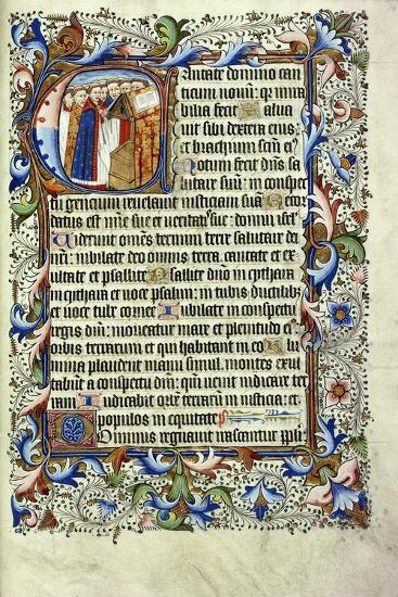 A Page from a Psalter in Latin--Giclee Print