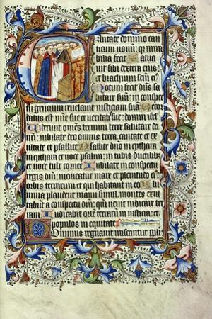 A Page from a Psalter in Latin