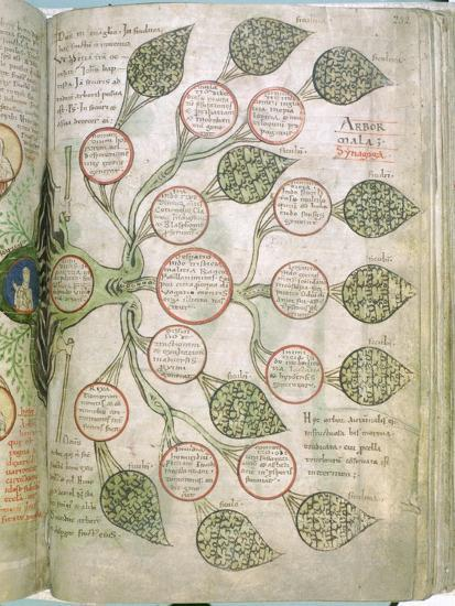A page from Liber Floridus, 12th century. Artist: Unknown-Unknown-Giclee Print