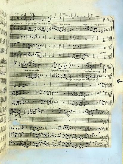 A Page from One of the Only Two Copies known to Exist of the First Printing of Handel's Messiah in --Giclee Print