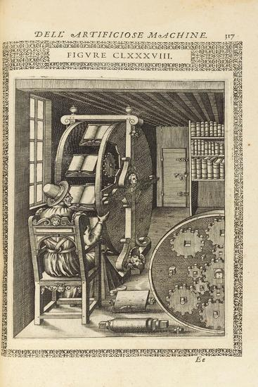 A Page from the Book 'Le Diverse Et Artificiose Machine', 1588--Giclee Print