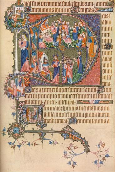 A Page from the Egerton Bohun Psalter-Hours, 1937--Giclee Print