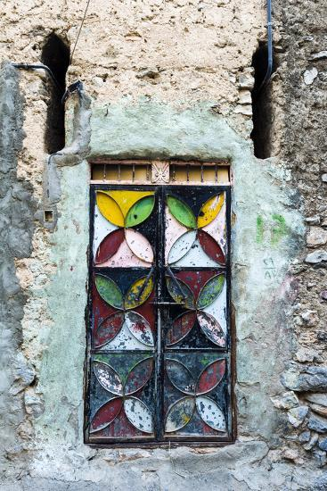A Painted and Decorated Steel Door in an Ancient Mud Brick Village-Jason Edwards-Photographic Print