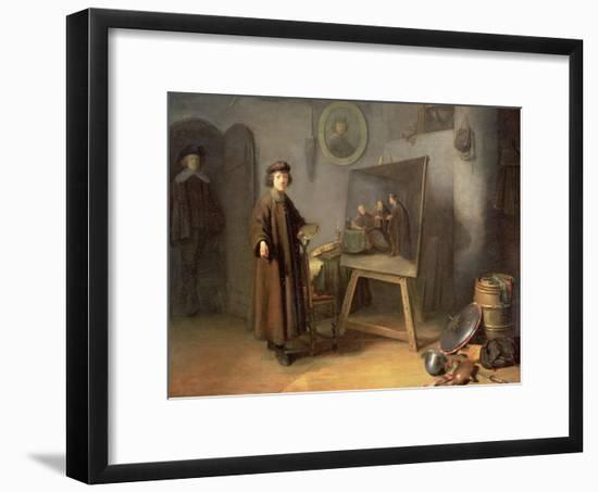 A Painter in His Studio-Gerrit or Gerard Dou-Framed Giclee Print