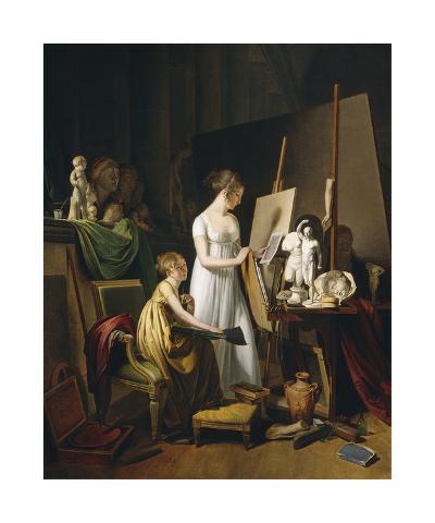 A Painter's Studio, c.1800-Louis Leopold Boilly-Premium Giclee Print