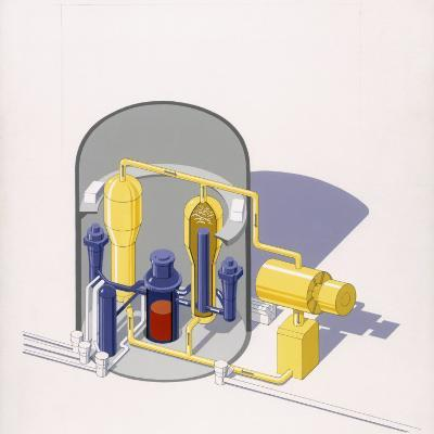 A Painting of an Improved Reactor Design by Pierre Mion-Pierre Mion-Photographic Print