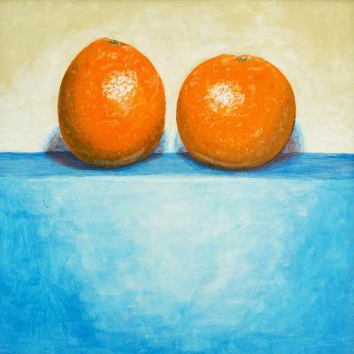 A Painting of Two Oranges-clivewa-Art Print