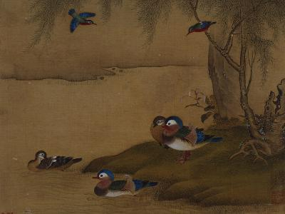 A Pair of Falcons. from an Album of Bird Paintings-Gao Qipei-Giclee Print