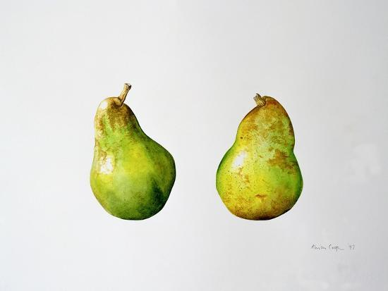 A Pair of Pears, 1997-Alison Cooper-Giclee Print