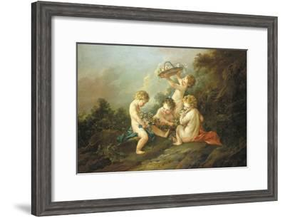 A Pair Of Putti I-Francois Boucher-Framed Premium Giclee Print