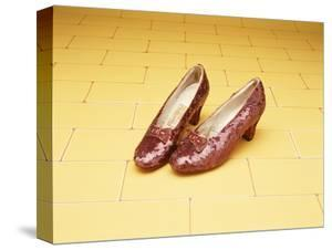"""A Pair of Ruby Slippers Worn by Judy Garland in the 1939 MGM film """"The Wizard of Oz"""""""