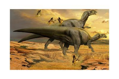A Pair of Willinakaqe Dinosaurs from the Late Cretaceous of Argentina-Stocktrek Images-Art Print