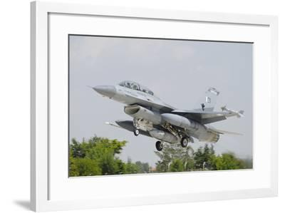 A Pakistan Air Force F-16B Taking Off from Konya Air Base, Turkey-Stocktrek Images-Framed Photographic Print