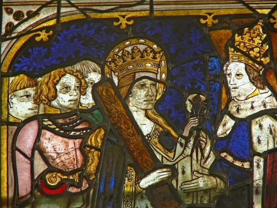 A Panel in the East Window Depicting St Helen with Emperor Constantine--Giclee Print