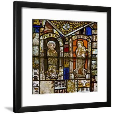 A Panel in the East Window Depicting St Peter and St John; Above Them Is the Gromwell Weed--Framed Giclee Print