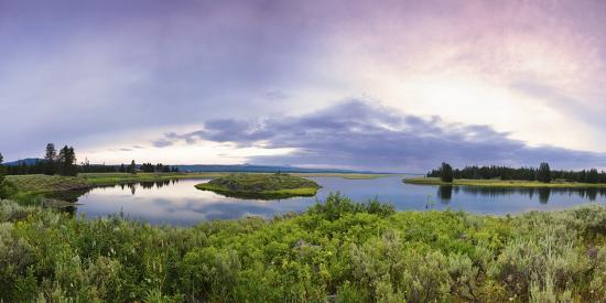 A Panorama of the Millionaire's Pool on the Henry's Fork River in Idaho-Clint Losee-Photographic Print