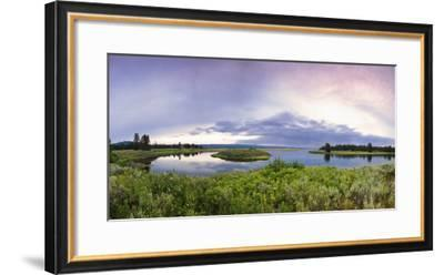 A Panorama of the Millionaire's Pool on the Henry's Fork River in Idaho-Clint Losee-Framed Photographic Print