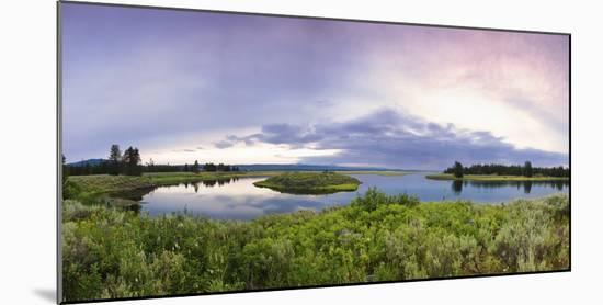 A Panorama of the Millionaire's Pool on the Henry's Fork River in Idaho-Clint Losee-Mounted Photographic Print