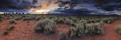 A Panoramic Desert Landscape at Sunset-Keith Ladzinski-Photographic Print