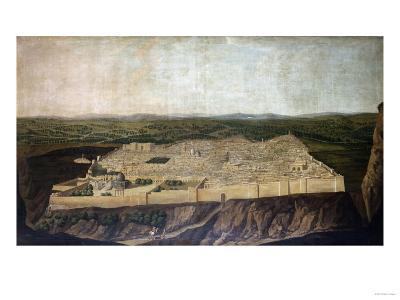 A Panoramic View of Jerusalem-Filipo Or Frederico Bartolini-Giclee Print