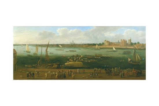 A Panoramic View of Lambeth Palace-Jan The Elder Griffier-Giclee Print