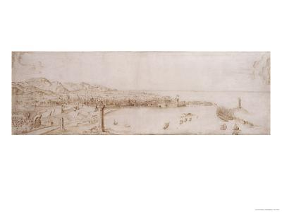 A Panoramic View of Livorno-Petrus Tola-Giclee Print