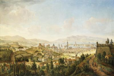 A Panoramic View of Messina, Sicily-Gaspar van Wittel-Giclee Print