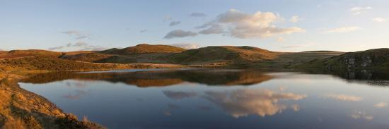A Panoramic View of Pant Y Llyn Lake, Epynt, Powys, Wales, United Kingdom, Europe-Graham Lawrence-Photographic Print