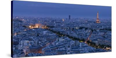 A Panoramic View of the City of Paris, France-Stephen Alvarez-Stretched Canvas Print