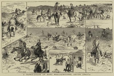A Paper-Chase at King Williamstown, South Africa--Giclee Print