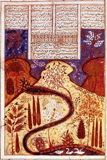 A Paradise Garden, Persian Miniature, C1300--Giclee Print