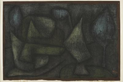 A Park Late in the Evening (Ein Park Abends Spät)-Paul Klee-Giclee Print