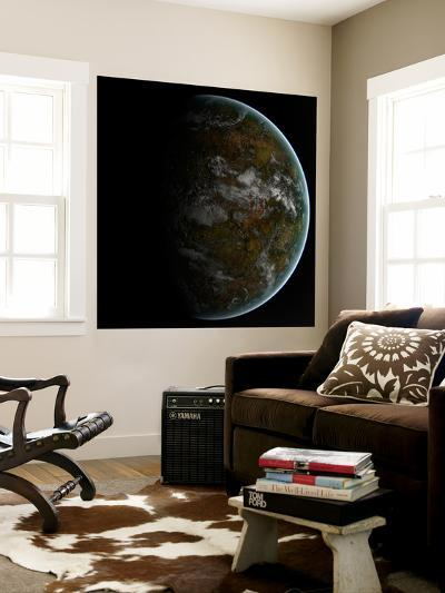A Partially Lit Terrestrial World-Stocktrek Images-Wall Mural