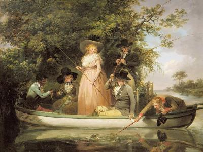A Party Angling-George Morland-Giclee Print