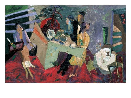 A Party at a Hotel-Zhang Yong Xu-Premium Giclee Print
