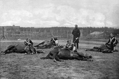 A Party of the 4th (Queen's Ow) Hussars Skirmishing Dismounted, 1896-Gregory & Co-Giclee Print